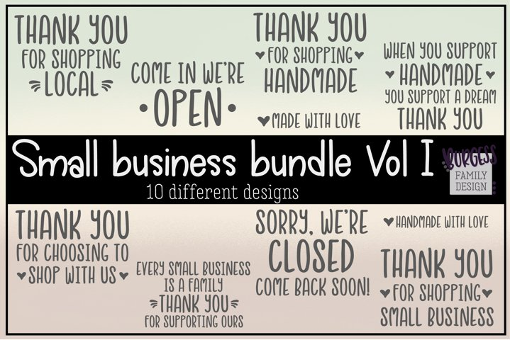 Small business bundle Vol I | Cuttable