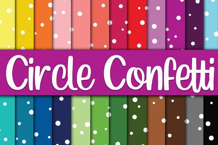 Circle Confetti Digital Papers