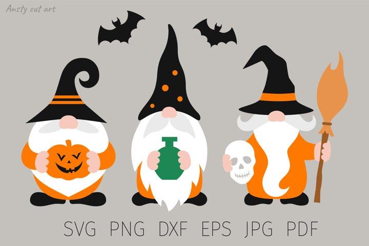Halloween Gnome. Gnome svg cut files. Gnome family, fall.