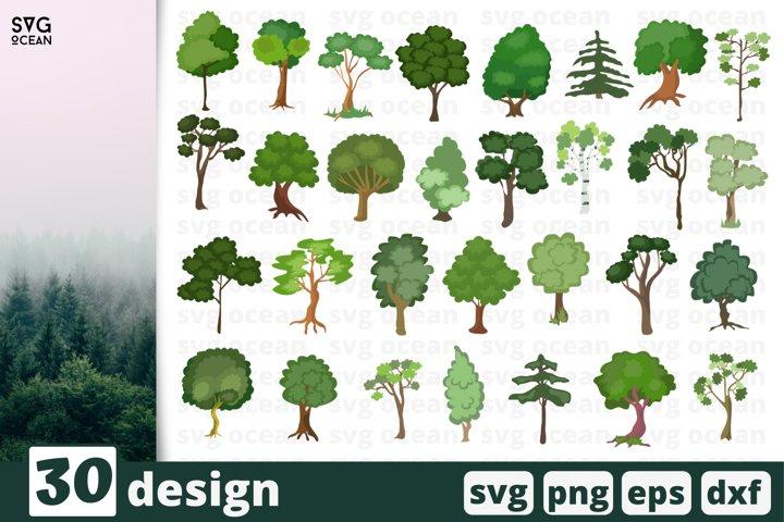 30 TREES SVG BUNDLE   Nature svg   Forest cricut   Tree cut