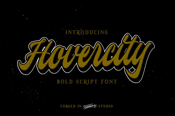Hovercity script font