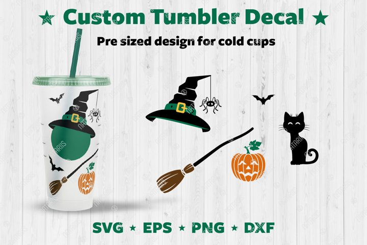 Halloween design set to personalize your Cold Cup Tumbler.