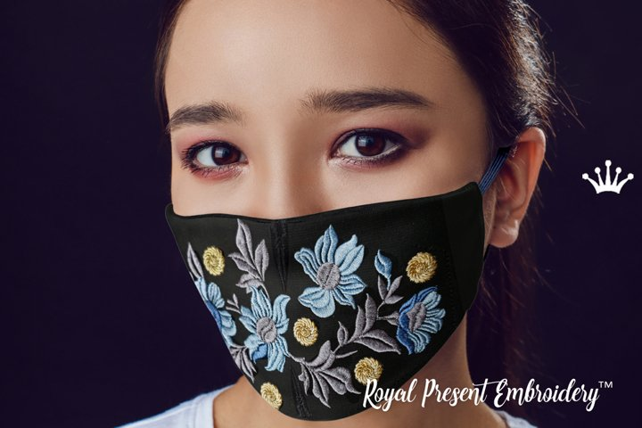 Face Mask For Kids and Adults ITH Machine Embroidery design