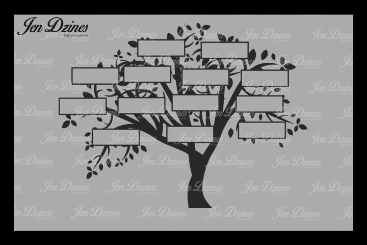 Family Tree 13 Names SVG DXF EPS PNG