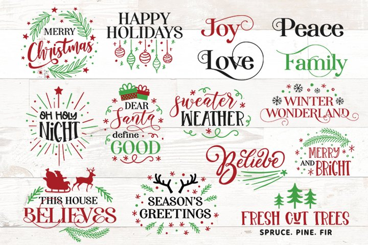 Christmas sayings bundle svg Sign Shirt Merry Christmas