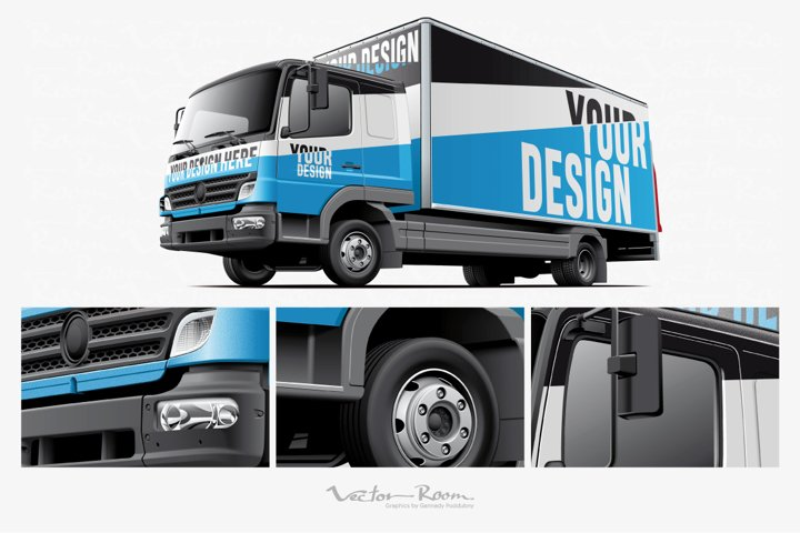 Light Commercial Truck Mockup