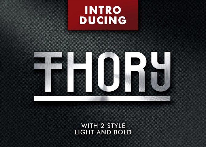 Thory Typeface