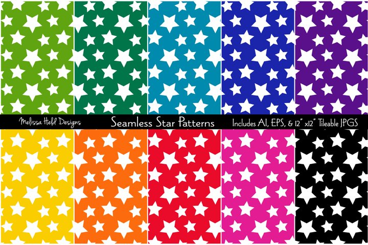 Seamless Star Patterns