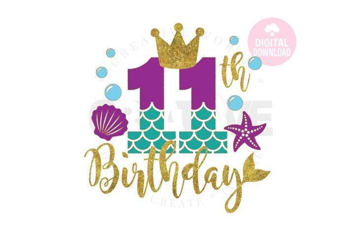My 11th Birthday Mermaid SVG | Mermaid SVG |Mermaid Birthday