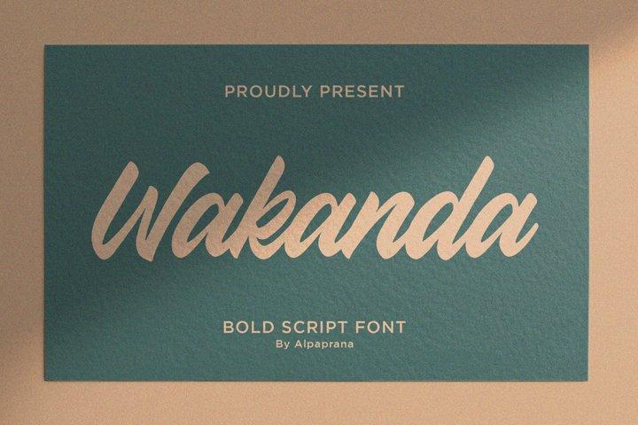 Wakanda - Bold Script Font