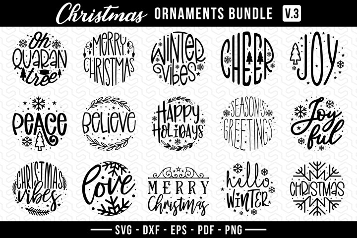 Christmas Ornament Bundle Vol.3, Christmas Ornaments SVG