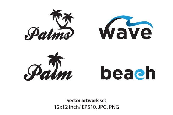 palm - vector artwork set