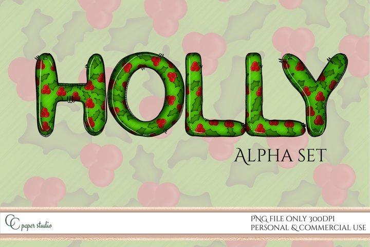 Holly Alphabet set - Sublimation alpha pack