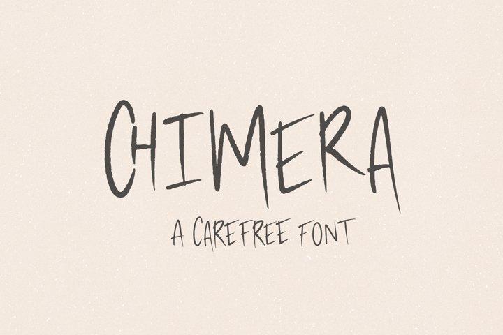 Chimera // A Carefree Brush Script Font