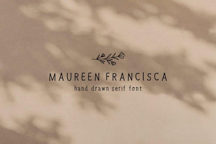 Hand Drawn Serif Font with Illustrations | Handwritten Font