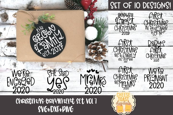 Christmas Ornament Bundle Vol 7 | Family Christmas SVG