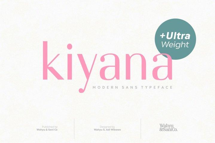 Kiyana | Modern Sans Font