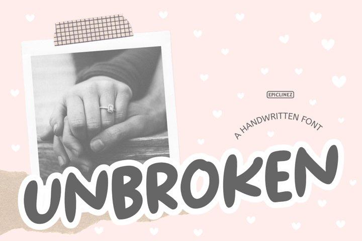 Unbroken - A Bold Handwritten Font