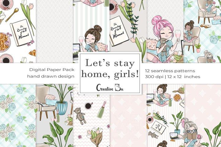 Lets Stay Home Girls - Digital Pattern