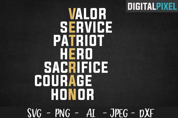 Veteran SVG PNG DXF Circut Cut Silhouette 3 Patriotic SVG