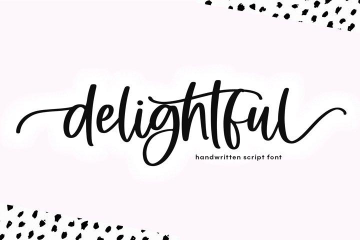 Delightful - Modern Script Font