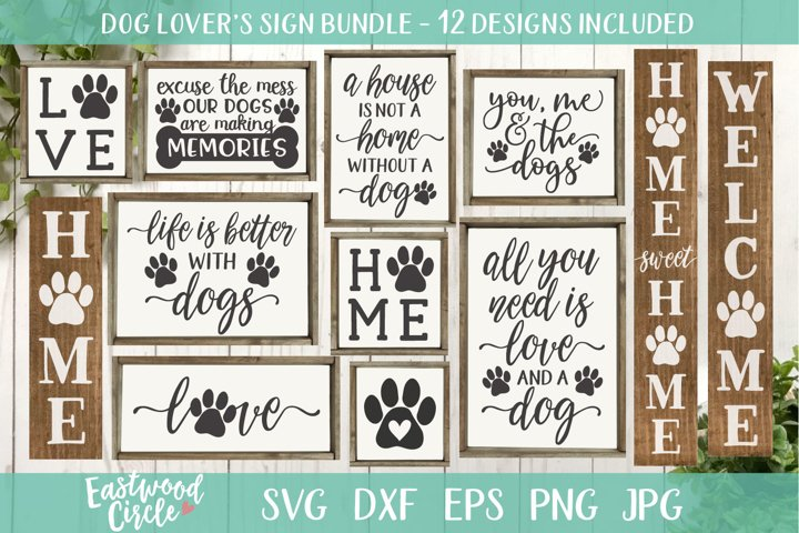 Dog SVG Bundle - Cut Files for Signs