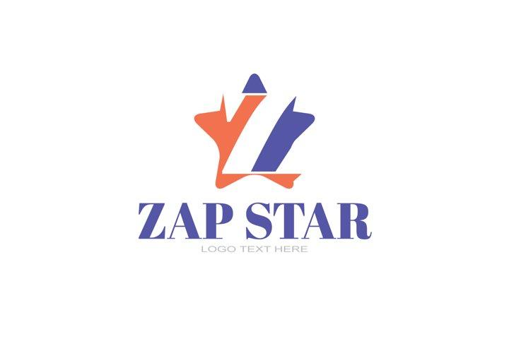 Z Letter Logo In Star