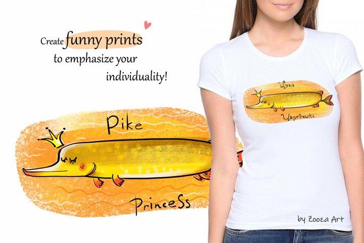 Happy River Fish - 9 illustrations example 7
