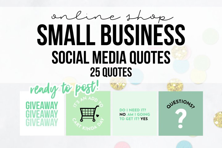 25 x Mint Online Business Social Media Quotes