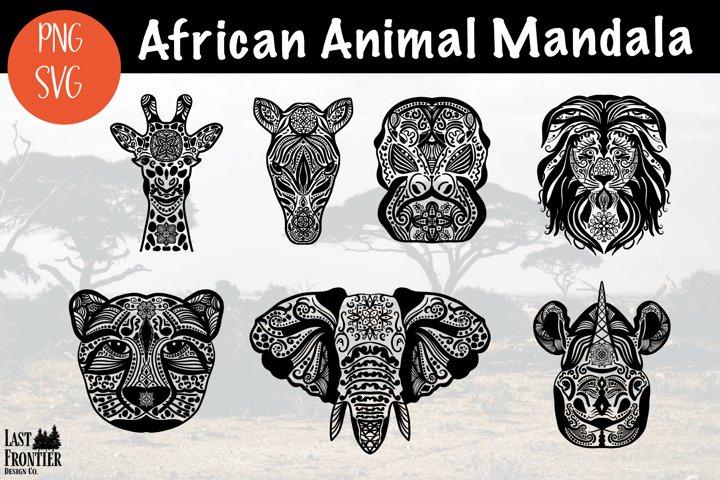 African Animal Mandalas