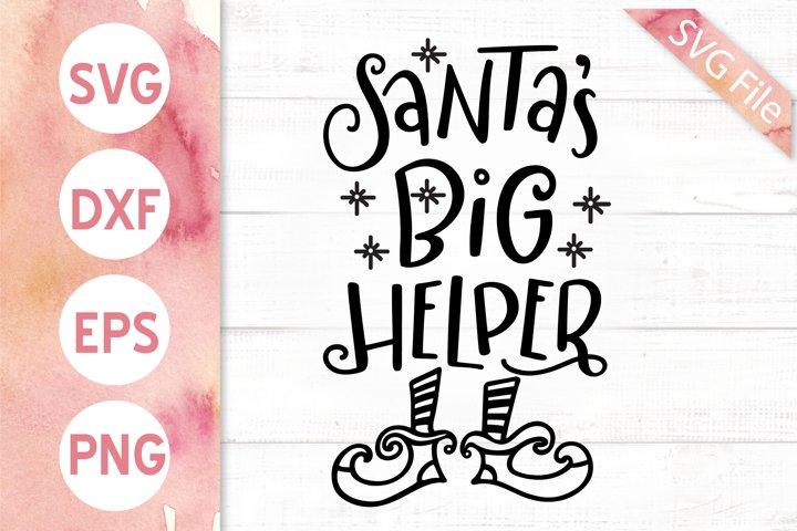 Santas Big Helper SVG DXF PNG EPS Kids Christmas Svg Elf