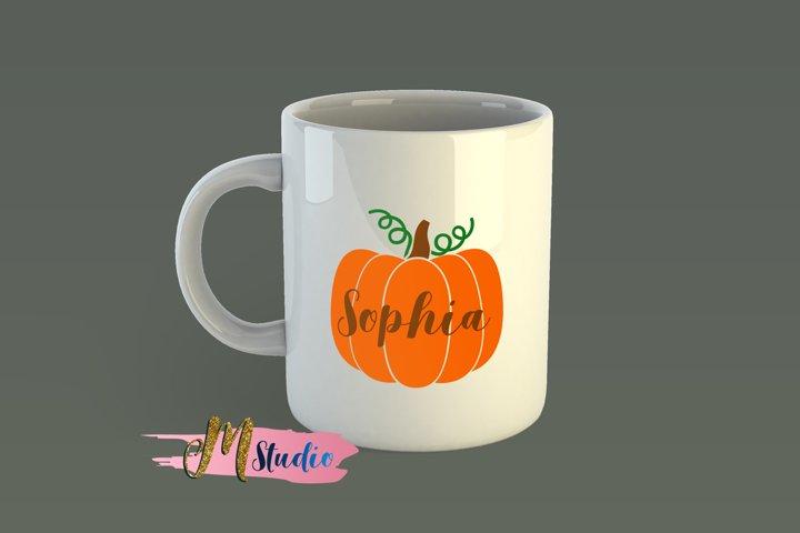 Pumpkin Monogram svg, for Silhouette Cameo or Cricut example 1