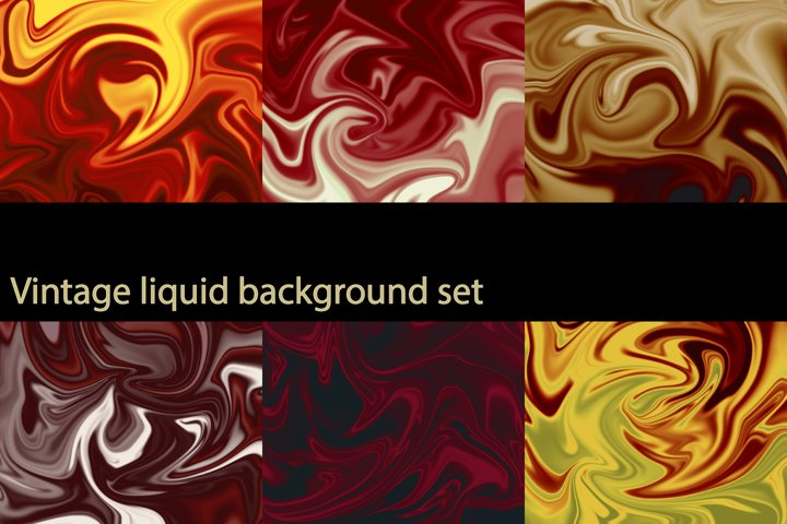 Vintage liquid background set
