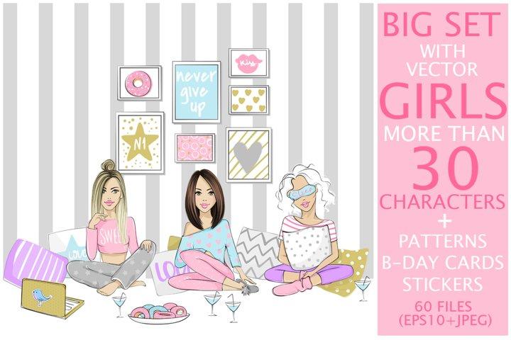 Big kit with fashion girls.