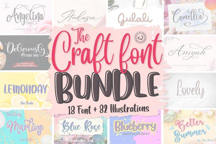 The Craft Font Bundle