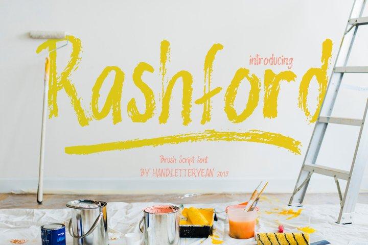 Rashford - Brush Font