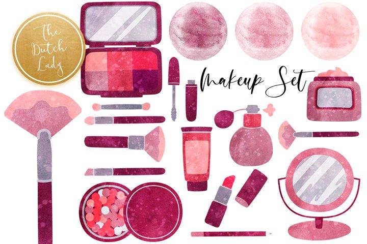 Makeup & Beauty Clipart Set
