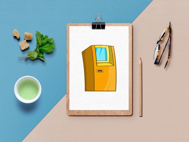 Finance icons set, cartoon style example 3