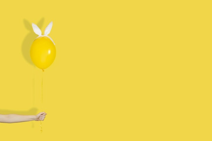 Creative easter minimal concept.