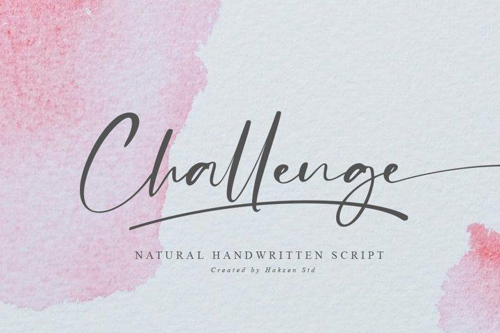 Challenge // Casual Handwritten Font