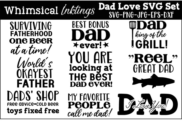 Dad Love SVG Set