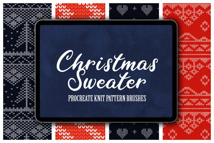Christmas Sweater Procreate Patterns