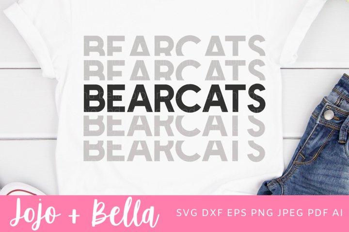 Football SVG - Bearcats Svg