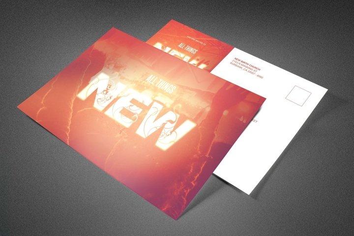 All Things New Church Postcard
