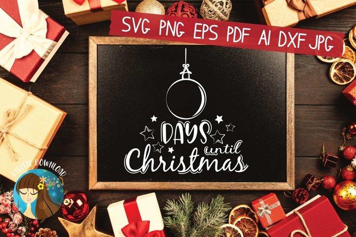 Christmas Countdown Svg