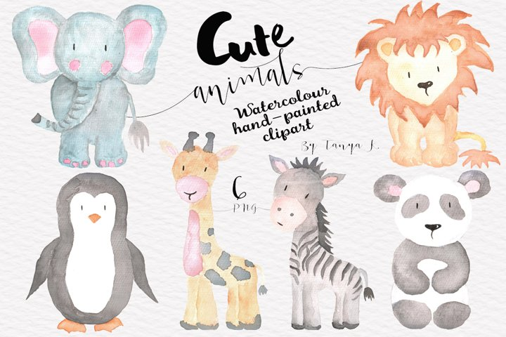 Cute Animals Watercolor Set
