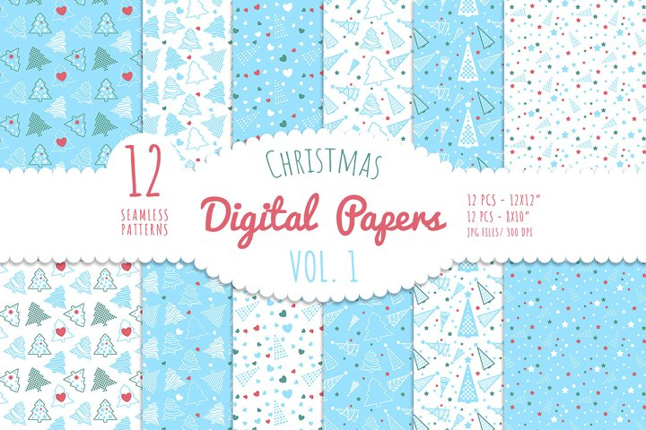Christmas Digital Paper - Vol. 1