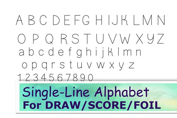 Single line Svg font for laser scoring cricut foil drawing
