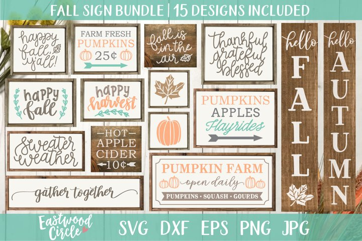 Fall SVG Bundle - Cut Files for Signs
