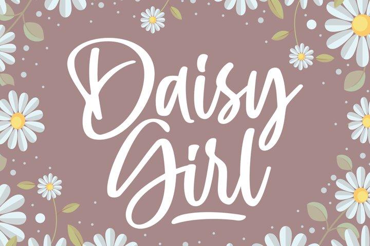 Daisy Girl - Cute Script Font